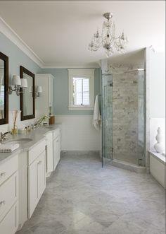 Pretty Bathroom - Benjamin Moore Palladian Blue HC144