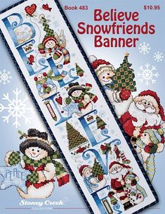 Book 483 Believe Snowfriends Banner – Stoney Creek Online Store