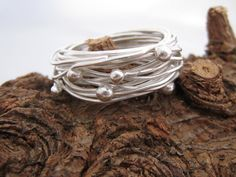 Rings of Saturn.  Galaxy Collection.  Sterling Silver Ring by ZaZing, NZ$85.00  Contemporary NZ jewellery