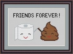 Poop Emoji Funny Cross Stitch PDF Pattern Poo by CrazzzyStitch