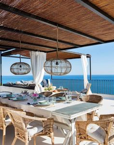 Deck, Country Living, Dining Area, Outdoor Living, Pergola, Outdoor Structures, Table Decorations, Interior, House