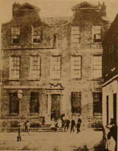 An old image of no. Old Images, Old Pictures, Old Photos, Dublin Street, Dublin City, Dissolution Of The Monasteries, Photo Engraving, Number 10, Street House