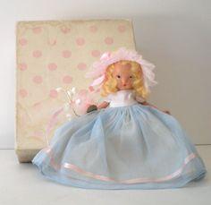 1940s Bisque  Nancy  Ann Storybook Doll Bridesmaid #87 Family Series w/ Box
