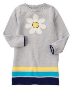 NWT Gymboree Girls Flower Shower Blue White Sweater Dress Size 2T 3T /& 4T