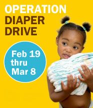 Join in the Diaper Drive to help families in need! From February 19 through March 8 you can drop off packages of unopened disposable diapers and Quadrant will match your donation. #DiaperDrive #WorldVision