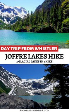 Want to see THREE jaw dropping gorgeous glacial lakes in one hike? Joffre Lakes hiking trail is the perfect day trip from Whistler BC. Visit one of the most spectacular hiking spots in Canada. Take a weekend to Whistler from Vancouver and go hiking in the Coast Mountain range at Joffre Lakes Provincial Park of British Columbia Canada. Click for details. Add this to your Canada bucket list! #mountains #besthikes #bchikes #canada #turquoiselakes #bucketlist #bchiking #pnw #canadabucketlist Hiking Spots, Go Hiking, Canada Day Fireworks, Summer Vacation Spots, Vacation Ideas, Joffre Lake, Sea To Sky Highway, Glacier Lake, Mountain Range