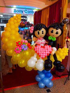 Cute Balloon Sculptures  http://jackieinspirations.blogspot.com/search/label/Wedding