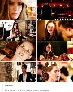"""MERRITT  PATTERSON as OPHELIA  PRYCE  -  ( """"The Royals."""")"""