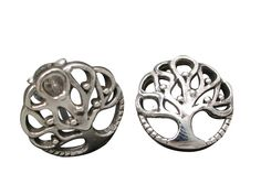 Sterling Silver Round Tree Of Life Stud Earrings Tree Of Life Jewelry, Butterfly Jewelry, Body Jewellery, Sterling Silver Jewelry, Women Jewelry, Stud Earrings, Steel, Stud Earring, Earring Studs