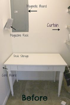closet to office makeover http://everythingemilygblog.blogspot.com/2012/04/closet-to-office-makeover.html