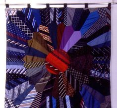 Quilt Inspiration: Waste not, want not: quilts from men's ties
