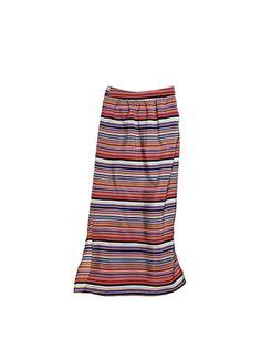 OLIVE & OAK Multi-Color Striped MAXI SKIRT