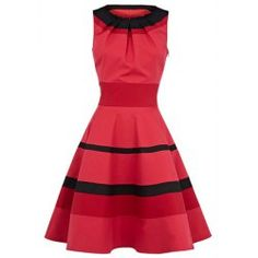 Wholesale Vintage Scoop Neck Sleeveless Women's Black Pleated Dress (BLACK,S), Vintage Dresses - Rosewholesale.com
