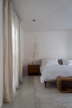 A calming place to rest. Myra House by . - Architecture and Home Decor - Bedroom - Bathroom - Kitchen And Living Room Interior Design Decorating Ideas - Home Bedroom, Bedroom Interior, Cheap Home Decor, Home Decor, House Interior, Minimalist Bedroom, Remodel Bedroom, Interior Design, Rustic Bedroom