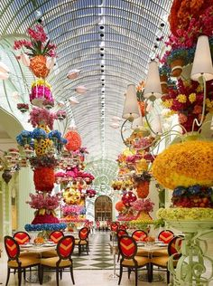 The Buffet at Wynn's flower-filled atrium is as welcoming