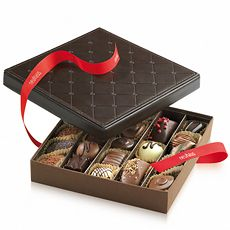 Celebrate life's important moments with our distinctive leather gift box filled with 25 hand-selected assorted Belgian chocolates.