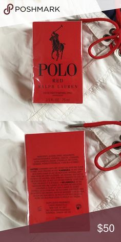 New In Box!! Polo Red Men's Cologne 2.5 oz. Selling in stores now for $68!!! For the man with drive, Polo Red captures speed, seduction, and adrenaline in a sexy, bold scent. The exhilarating fragrance from Ralph Lauren, it is a fiery mix of spicy red saffron, fresh red grapefruit, and deep redwood that ignites the thrill-seeker in every man. Polo by Ralph Lauren Other