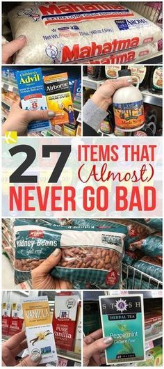 26 Items That Almost Never Go Bad Homestead Survival Survival Gear Doomsday Survival Doomsday Bunker Doomsday Preppers Survival Food Kits Apocalypse Survival Kit Surviva. Homestead Survival, Survival Food Kits, Emergency Preparedness Kit, Emergency Preparation, Survival Prepping, Survival Skills, Survival Stuff, Camping Survival, Survival Hacks