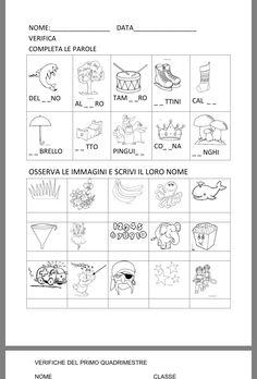 Italian Lessons, Italian Language, Learning Italian, Book Activities, Pixel Art, School, Geography, Alphabet, Speech Language Therapy