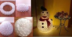 Hóembert nem csak hóból, hanem műanyag poharakból is készíthetünk. Így újrahasznosítunk is, és ráadásul egy ilyen hóember még a lakásban is jól érzi magát, hiszen nem olvad el.