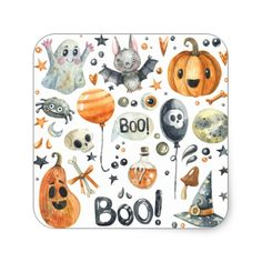 Spooktacular Halloween Party | Sticker Seal #halloween #holiday #creepyhollow #stickers