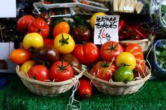 Colourful tomato at Borough Market @ London, UK;     Copyright @arpaboyuyol