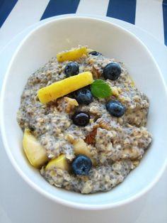 Chia krém, kaša, alebo puding? Chia Puding, Oatmeal, Breakfast, Food, Kassel, The Oatmeal, Morning Coffee, Rolled Oats, Essen