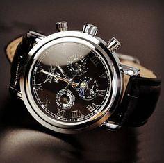 Stan Vintage Watches   Men's Watch, Vintage Watch, Handmade Watch, Leather Watch, Automatic Mechanical Watch,Fashion Day Night Wrist Watch (WAT0102-BLACK)   Online Store Powered by Storenvy   Buy best watches popular today from SevenPegs.com ✿