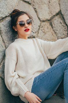 Cat Eye Sunglasses, Vogue, Turtle Neck, Sweaters, Design, Fashion, Model, Moda, Fashion Styles
