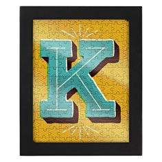 framed letter puzzle.  this would be a good item for plex.