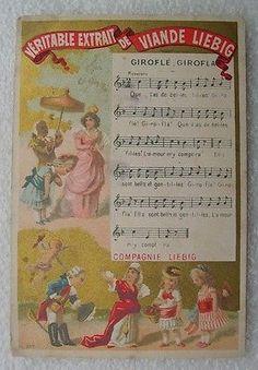 CHROMO LIEBIG  :  GIROFLE GIROFLA  partition chanson sheet music  S0067