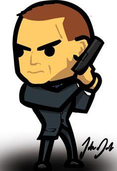 I made some fan art of Daniel Craig as James Bond in Skyfall :D    #JamesBond #Skyfall #DanielCraig #007 #chibi #cute