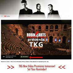 TKG Live at Herodes Atticus Odeon [New Video]! Our first video premieres tomorrow Nov 28 at 21:00 (GMT2:00) !!! Enjoy TKG and their special guests performing Live compositions from their latest album #MozartInColor at the beautiful Odeon of Herodes Atticus! In this first video don't miss RED (Based on Symphony No.25) a composition powerful and emotional at the same time perfect to be performed at this ancient theatre! We'll be on YouTube chat at the premiere so leave us your message and… First Video, Video New, Parthenon Greece, Youtube Search, Progressive Rock, Latest Albums, Atticus, Special Guest, Rock Music