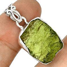 Moldavite 925 Silver Pendant  Jewelry PP69238 #XTREMEGEMS #Pendants