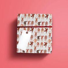 Babe Wrapping Paper  #illustration #etsy #etsyshop #print #watercolour #pattern