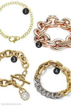 Check out our picks for the seven bracelet styles worth an invitation to your arm party! #jewelry #armparty #divinecaroline