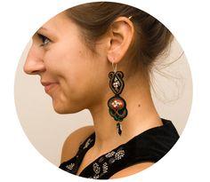 Polish folk earring bohemian earrings big unique by MANJApl, $50.00