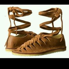 Frye holly gladiator sandals sz8 Suede leather great color. Worn once. And super comf Frye Shoes Sandals