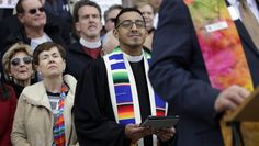 These Religious Leaders Are Celebrating Marriage Equality | People of faith are deeply supportive of LGBT rights in the United States, as recent polls show majorities of nearly every major American Christian group now back marriage equality. We believe in a God that includes, not excludes. | ThinkProgress