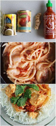 Spicy #SlowCooker Chicken w/ Coconut Cream Sauce