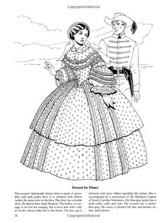 Fashions of the Old South Colouring Book (Dover Fashion Coloring Book)