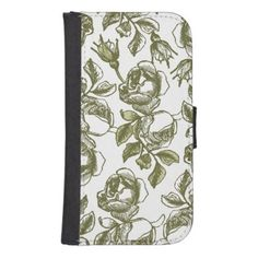 #gold - #Faux Gold and White Roses Samsung Wallet Case