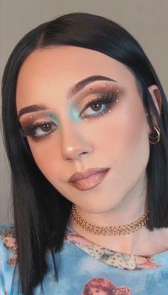 Rave Makeup, Edgy Makeup, Glamour Makeup, Baddie Makeup, Makeup Eye Looks, Eye Makeup Art, Flawless Makeup, Pretty Makeup, Skin Makeup