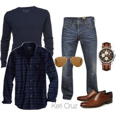 Men's Fashion. I would like sneakers better with this outfit. Little more laid back.