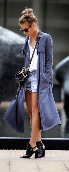 Shorts with a long jacket