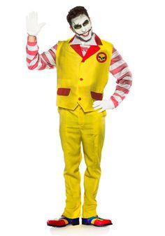 Evil Fast Food Clown Men's Costume - FOREVER HALLOWEEN