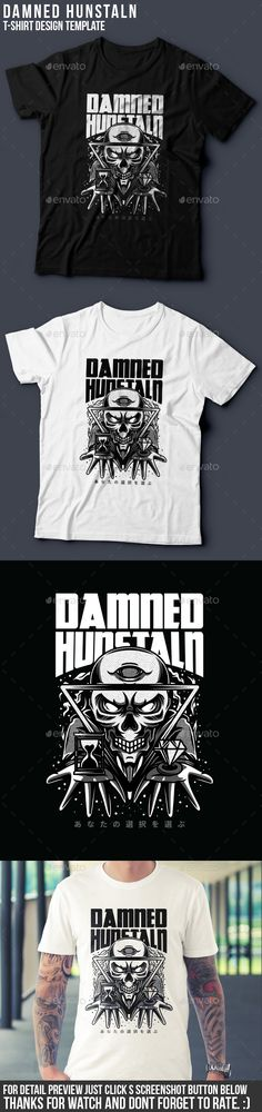 Damned Hunstaln #T-Shirt Design - Grunge Designs