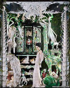 Bergdorf Goodman window, fashion by Naeem Khan. Photograph by Ricky Zehavi.