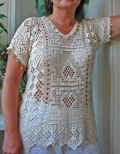 Летняя блуза. выкройка
