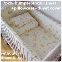 42.80$  Buy now - Promotion! 6/7PCS Crib Sets Baby Newborn Bedding Set Cotton Unisex Baby Cot Bedding Set,120*60/120*70cm  #buyonlinewebsite